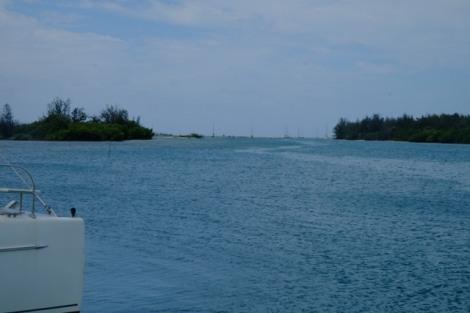 Ankerplatz vor der marina